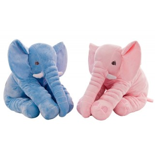 Pluche olifant in baby blauw of roze 40 cm