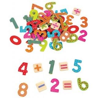 Magnetische cijfers rekentekens 60 delig Lelin Toys