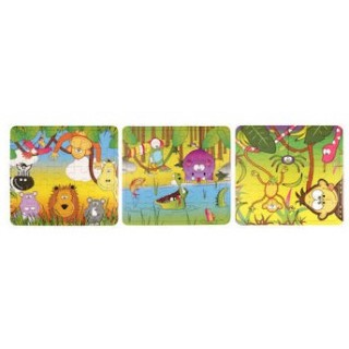 Mini puzzel jungle 25 pcs legpuzzel