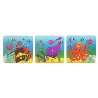Mini puzzel Sealife 25 pcs legpuzzel zeedieren