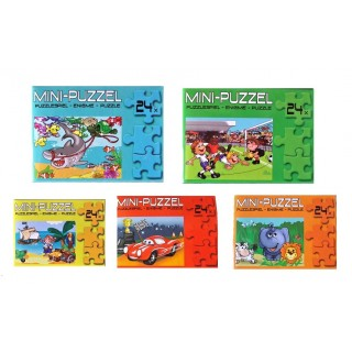 mini puzzel diverse thema's 24 pcs