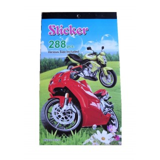 Stickerboekje 288 stickers Motor en Auto's
