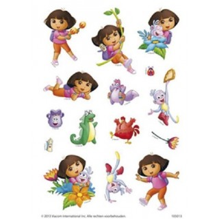 Stickervel 3x Dora stickers