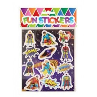 Stickervel superhelden stickers jongens