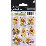 Stickervel 3x Winnie the Pooh stickers