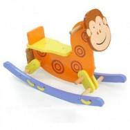 Houten hobbel aap met steun