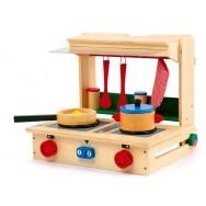 houten keukentje fornuis professioneel