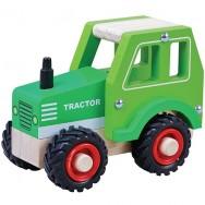 Houten tractor rubberen wielen