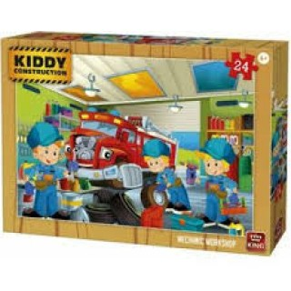 Legpuzzel kiddy constructie mechanic 24 dlg