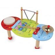 Houten muziektafel met xylofoon