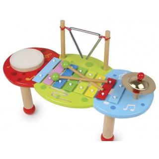 Houten muziektafel kind met xylofoon